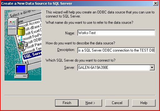 Creating System DSN ODBC Sources - Galen Healthcare