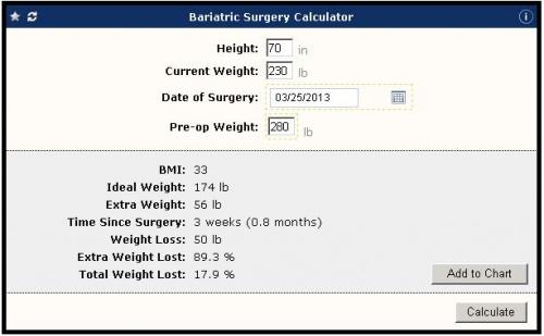 Galen Ecalcs Calculator Bariatric Surgery Galen Healthcare