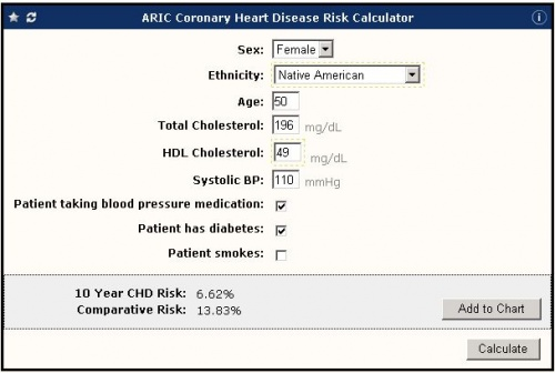 galen ecalcs - calculator  aric coronary heart disease risk